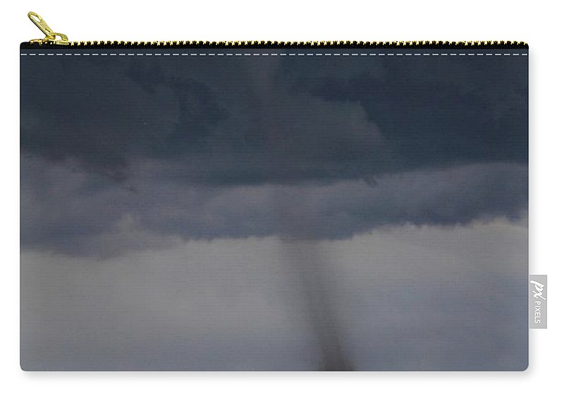 Roggen Carry-all Pouch featuring the photograph Roggen Tornado 2 by Marcelo Albuquerque