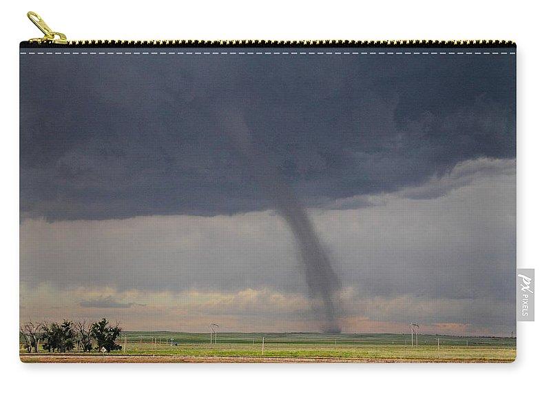 Roggen Carry-all Pouch featuring the photograph Roggen Tornado 4 by Marcelo Albuquerque