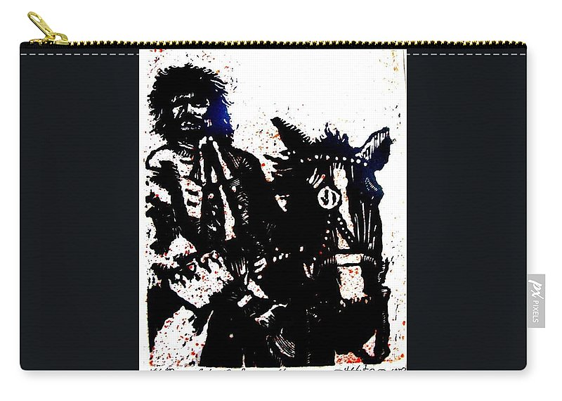 English Highwayman Carry-all Pouch featuring the mixed media Rogue Of The Road by Seth Weaver