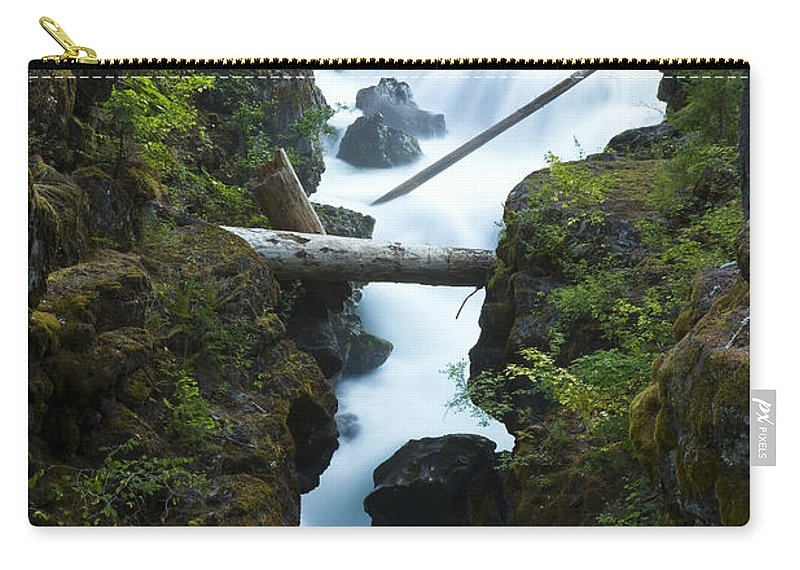 Rogue Carry-all Pouch featuring the photograph Rogue River Falls 1 by John Brueske