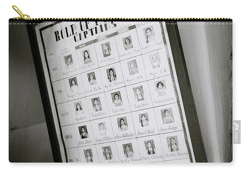 India Carry-all Pouch featuring the photograph Roll Of Honour by Shaun Higson