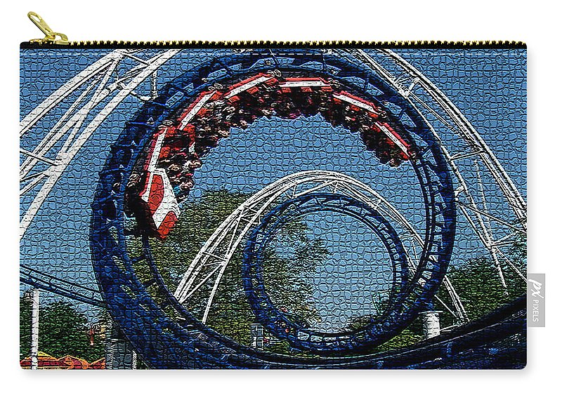 Roller Coaster Digital Art Carry-all Pouch featuring the digital art Roller Coaster 2 by Marvin Blaine