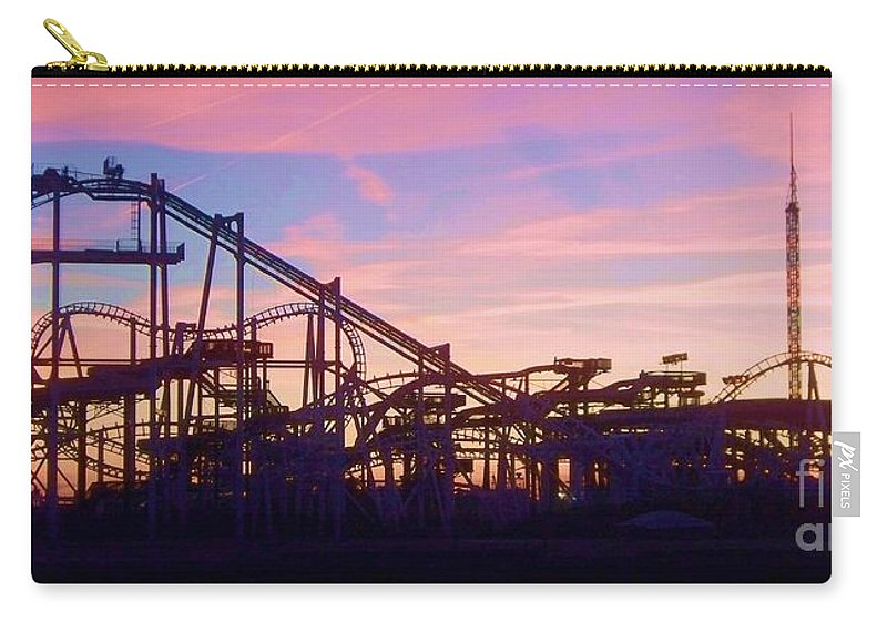 Roller Coaster Carry-all Pouch featuring the photograph Roller Coaster At The Nj Shore by Eric Schiabor