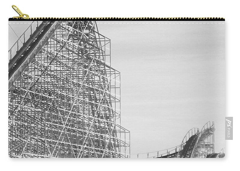Roller Coaster Carry-all Pouch featuring the photograph Roller Coaster Wildwood by Eric Schiabor
