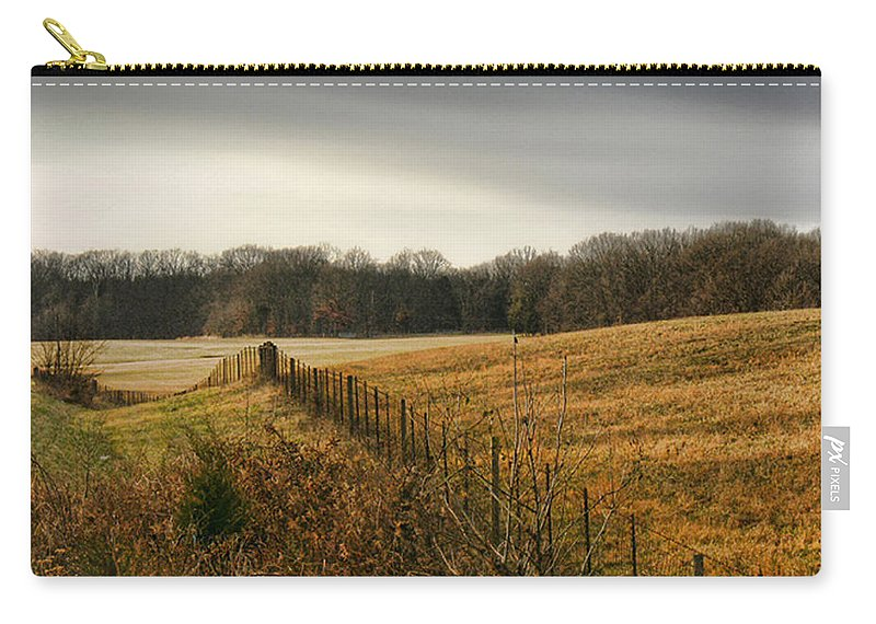 Tn Carry-all Pouch featuring the photograph Rolling Field by Ericamaxine Price