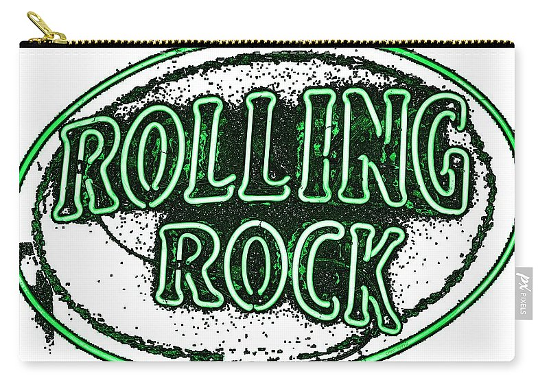 Drink Carry-all Pouch featuring the photograph Rolling Rock Lager by Chris Berry