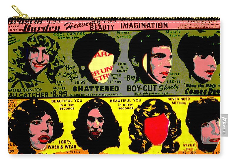 The Rolling Stones Some Girls Carry-all Pouch featuring the photograph Rolling Stones Pop Art by Dan Sproul