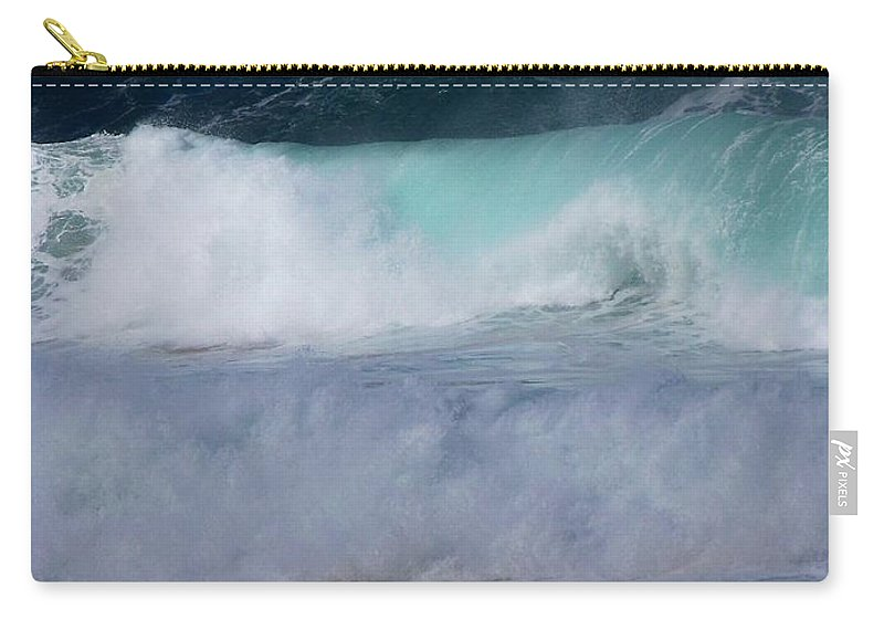 Surfing Carry-all Pouch featuring the photograph Rolling Thunder by Karen Wiles
