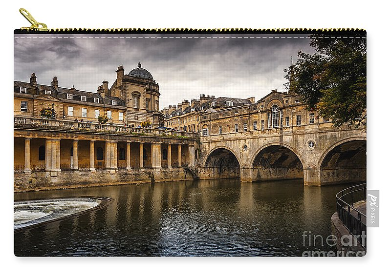 Abbey Carry-all Pouch featuring the photograph Roman Bath by Svetlana Sewell