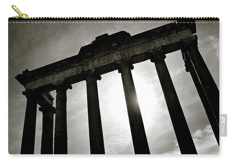 Roman Forum Carry-all Pouch featuring the photograph Roman Forum by Dave Bowman