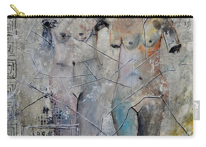 Nude Carry-all Pouch featuring the painting Roman Nudes 553160 by Pol Ledent