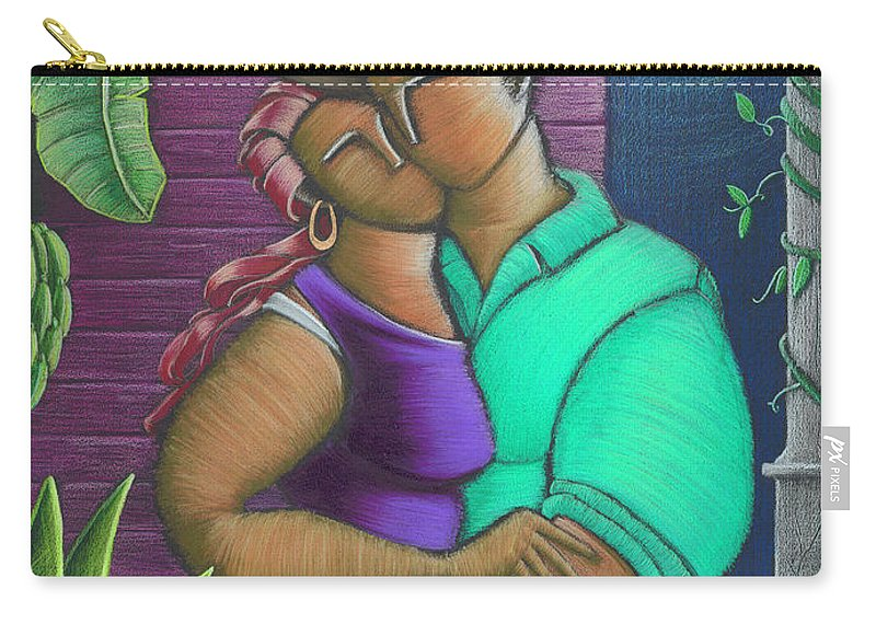 Puerto Rico Carry-all Pouch featuring the painting Romance Jibaro by Oscar Ortiz