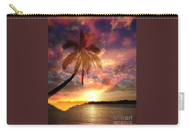 Landscape Carry-all Pouch featuring the digital art Romance by Yael VanGruber