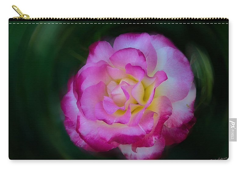 Rose Carry-all Pouch featuring the photograph Romancing The Rose by Mick Anderson