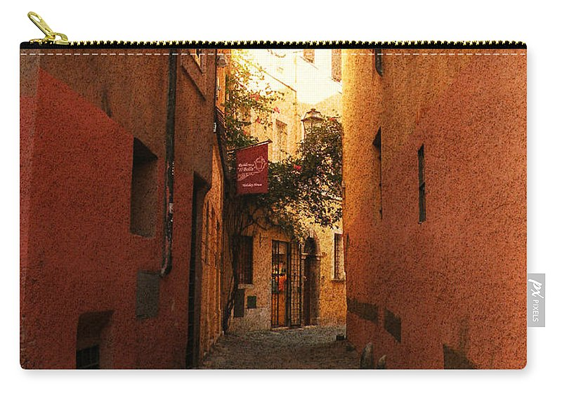 Rome Carry-all Pouch featuring the photograph Romano Cartolina by Micki Findlay