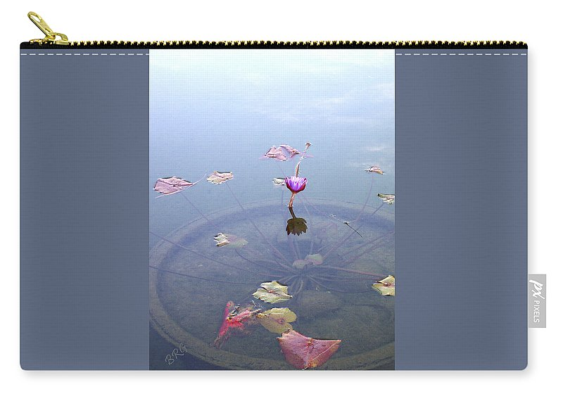Waterlily Carry-all Pouch featuring the photograph Romantic Pond by Ben and Raisa Gertsberg