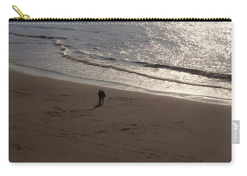 Couple Carry-all Pouch featuring the photograph romantic sunset in Holland by Joana Kruse