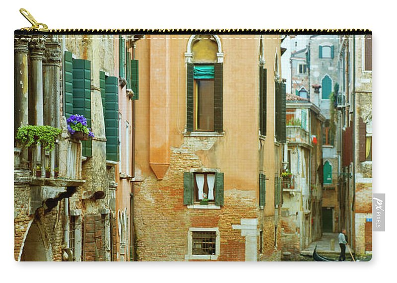 Heterosexual Couple Carry-all Pouch featuring the photograph Romantic Venice Views From Gondola by Caracterdesign
