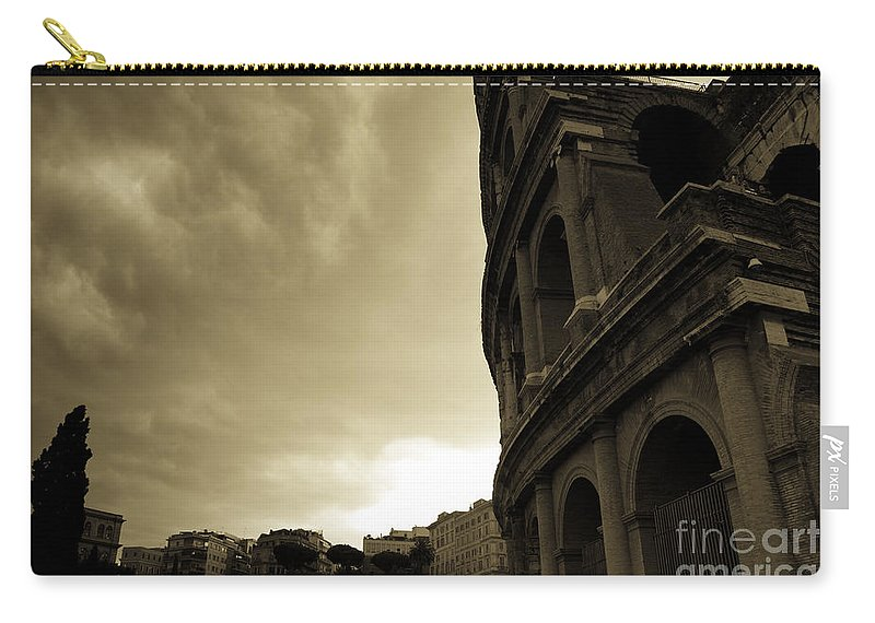 Colosseum Carry-all Pouch featuring the photograph Rome Colosseum by James Lavott