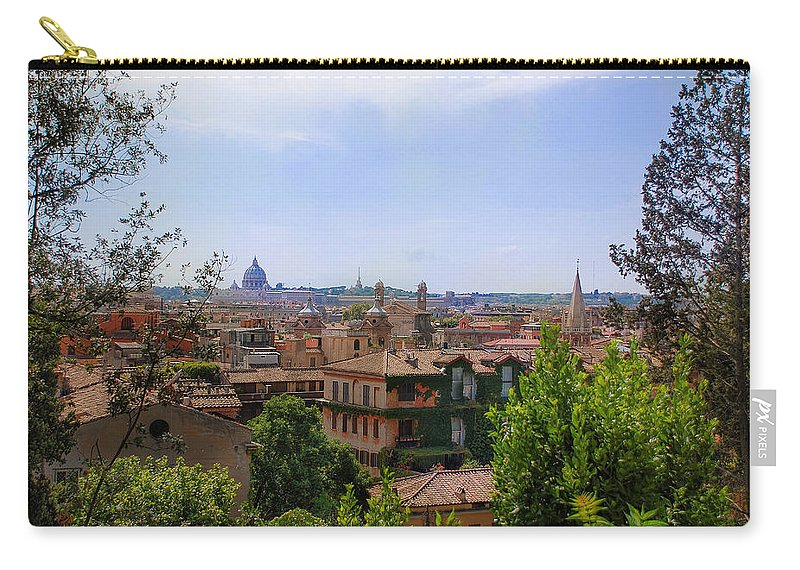Europe Carry-all Pouch featuring the photograph Rome Rooftop by Dany Lison