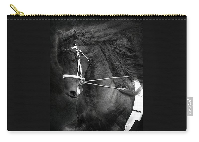 Friesian Carry-all Pouch featuring the photograph Romke 401 Long Line by Fran J Scott
