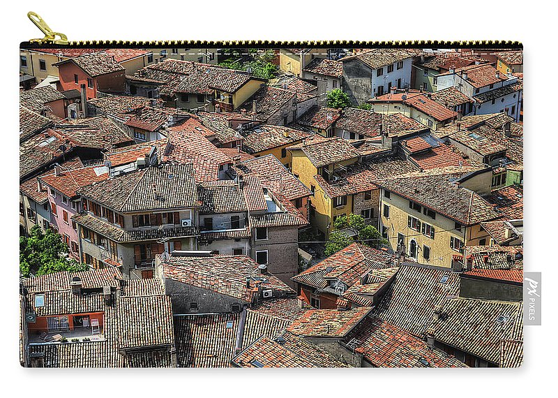 Tranquility Carry-all Pouch featuring the photograph Roofs by Mento