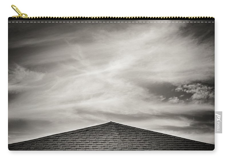 Rooftop Sky Carry-all Pouch featuring the photograph Rooftop Sky by Darryl Dalton