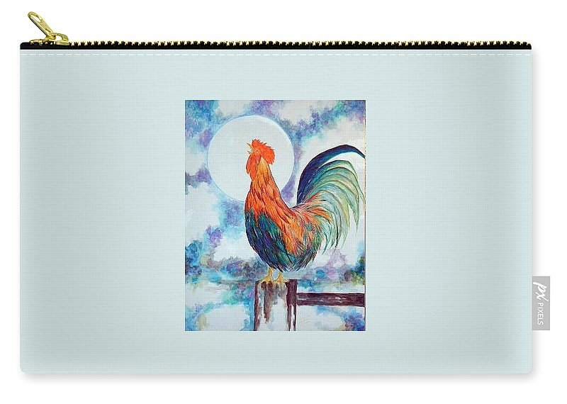 Rooster Carry-all Pouch featuring the painting Rooster IIi by Lord Frederick Lyle Morris - Disabled Veteran