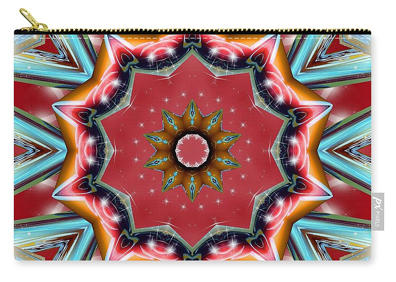 Sacredlife Mandalas Carry-all Pouch featuring the digital art Root Activation by Derek Gedney