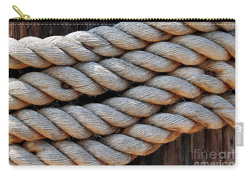 Old Carry-all Pouch featuring the photograph Rope by Henrik Lehnerer
