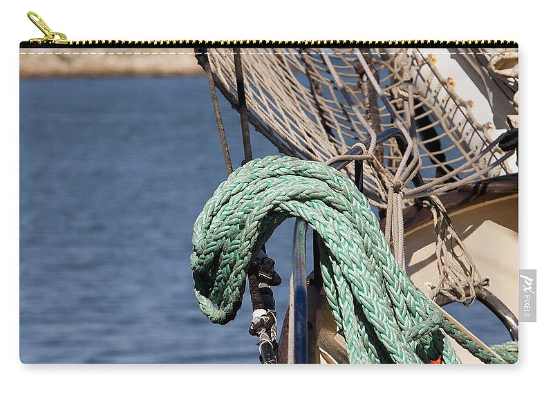 Ship Carry-all Pouch featuring the photograph Ropes And Rigging by Michelle Wrighton