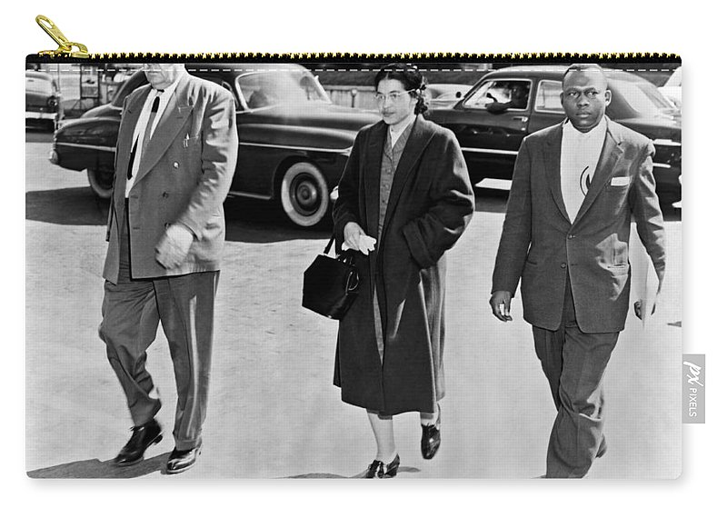 1956 Carry-all Pouch featuring the photograph Rosa Parks Going To Jail by Underwood Archives