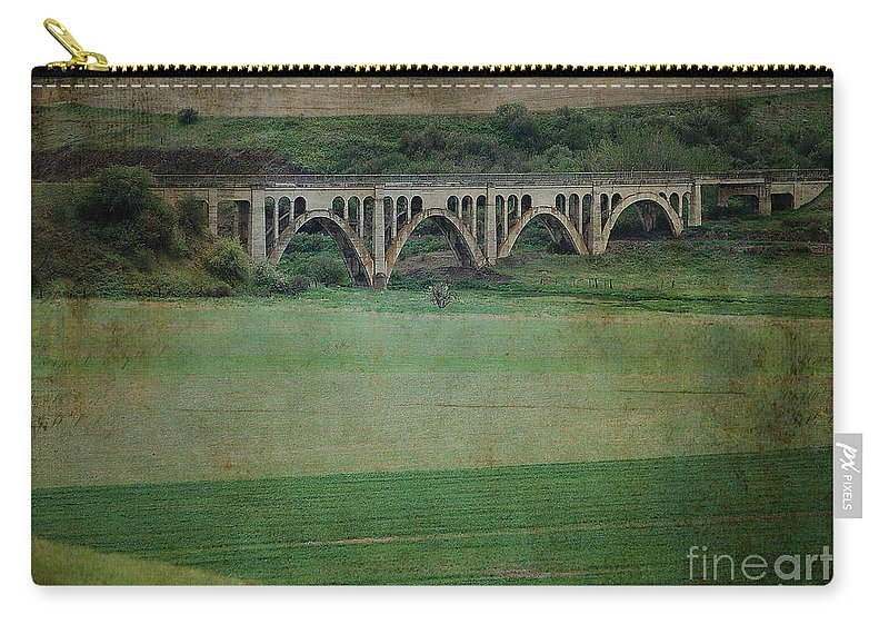 Railroad Carry-all Pouch featuring the photograph Rosalia Relic Texture by Sharon Elliott