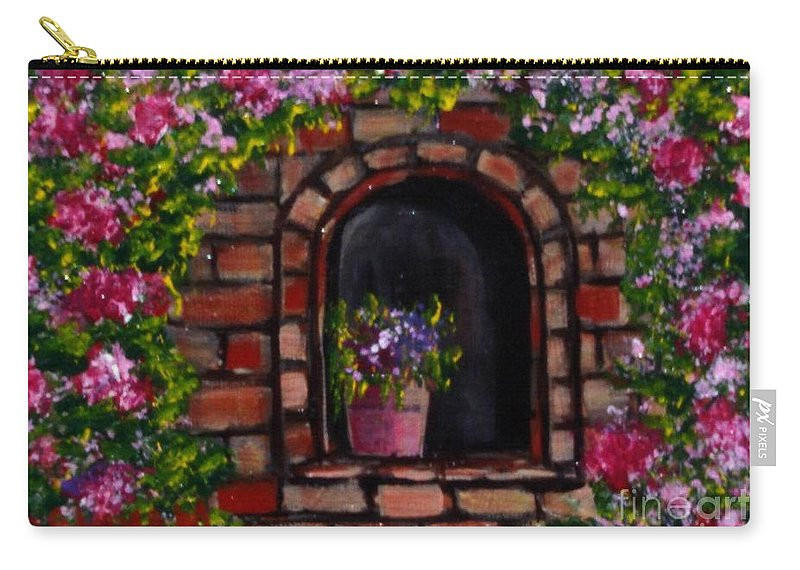 Rose Carry-all Pouch featuring the painting Rosary by Laurie Morgan