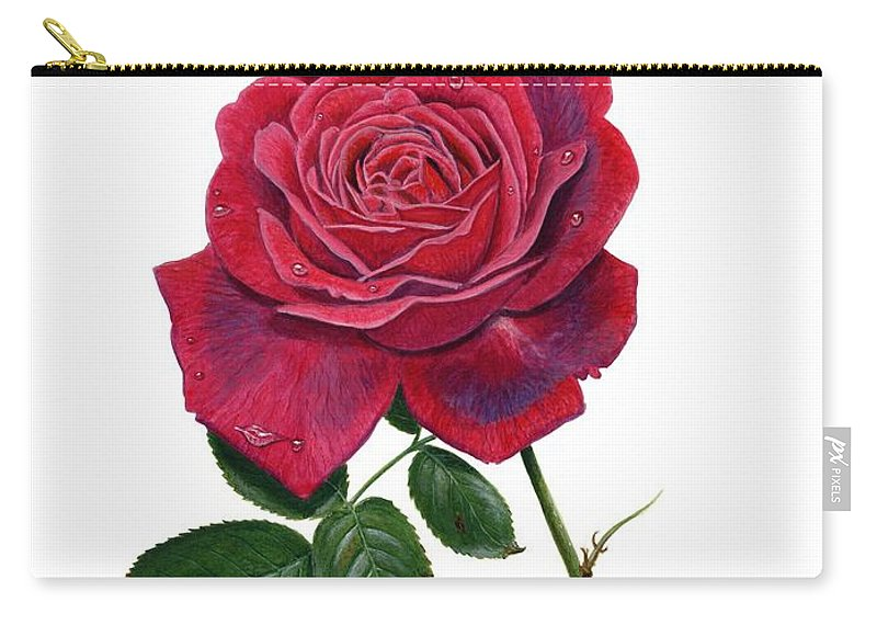 Rose Carry-all Pouch featuring the painting Rose 1 by Richard Harpum