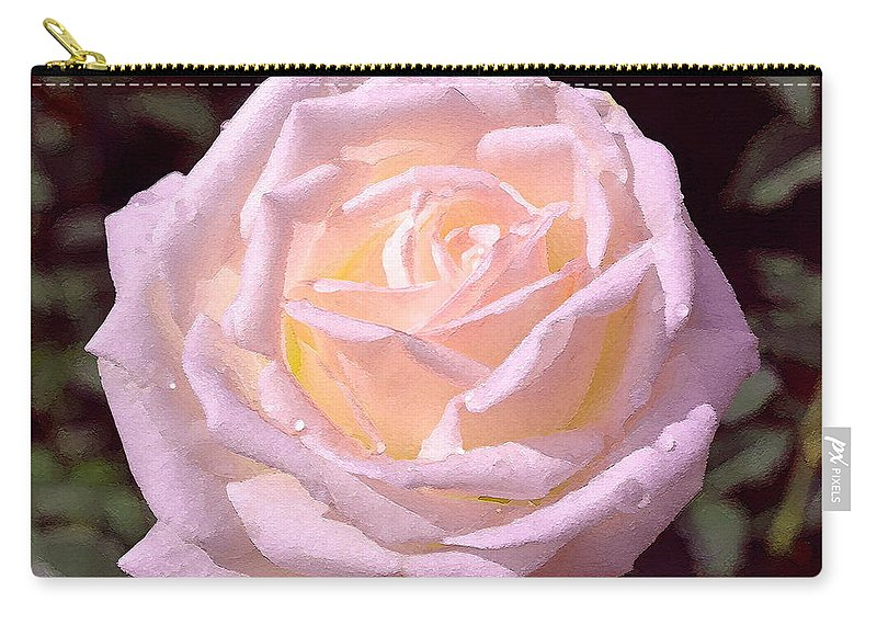 Floral Carry-all Pouch featuring the photograph Rose 169 by Pamela Cooper
