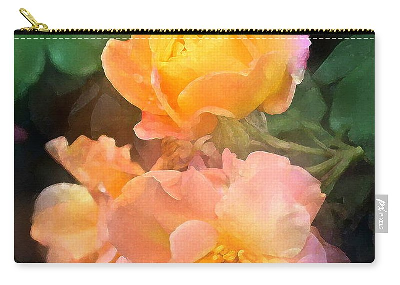 Floral Carry-all Pouch featuring the photograph Rose 221 by Pamela Cooper