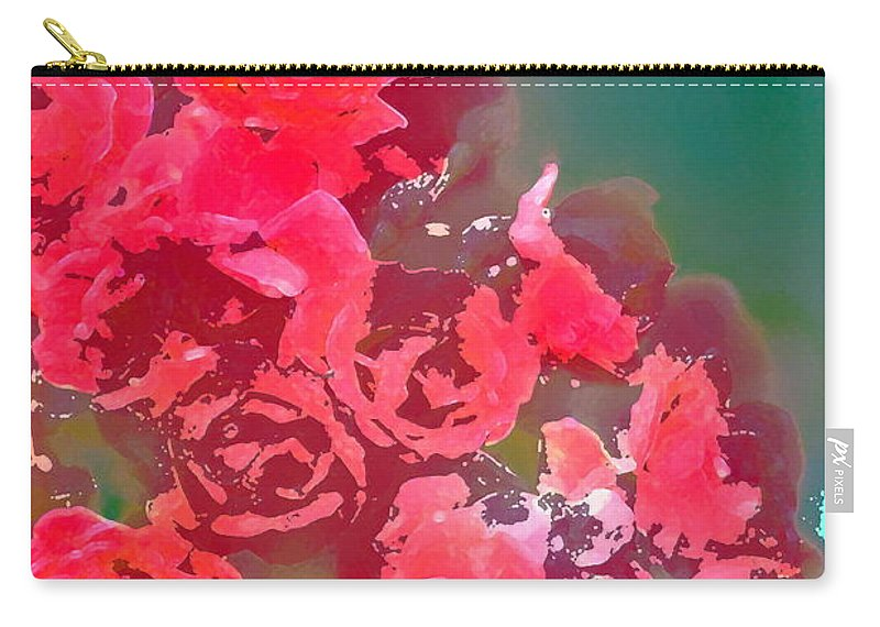 Floral Carry-all Pouch featuring the photograph Rose 248 by Pamela Cooper