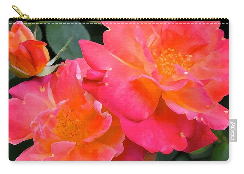 Floral Carry-all Pouch featuring the photograph Rose 283 by Pamela Cooper