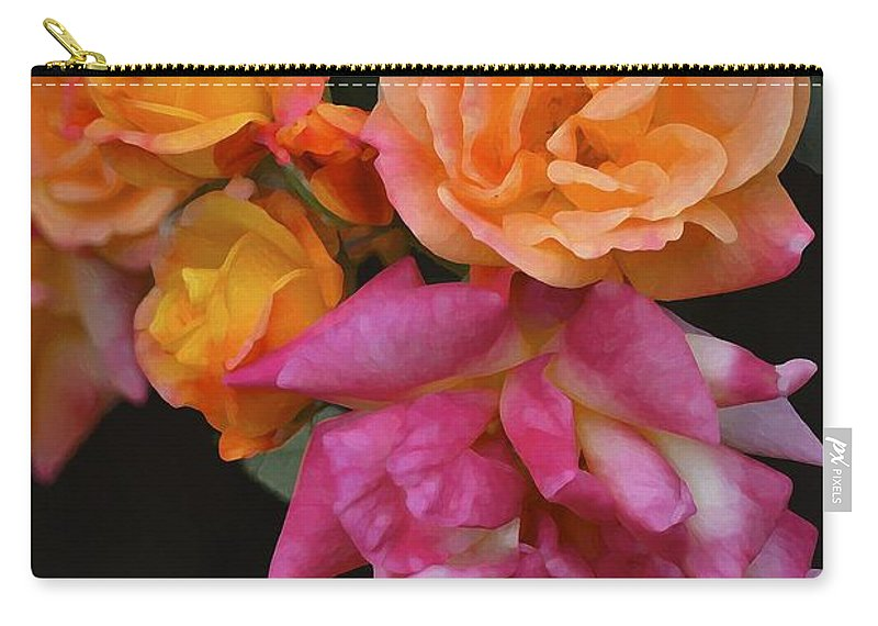 Floral Carry-all Pouch featuring the photograph Rose 284 by Pamela Cooper