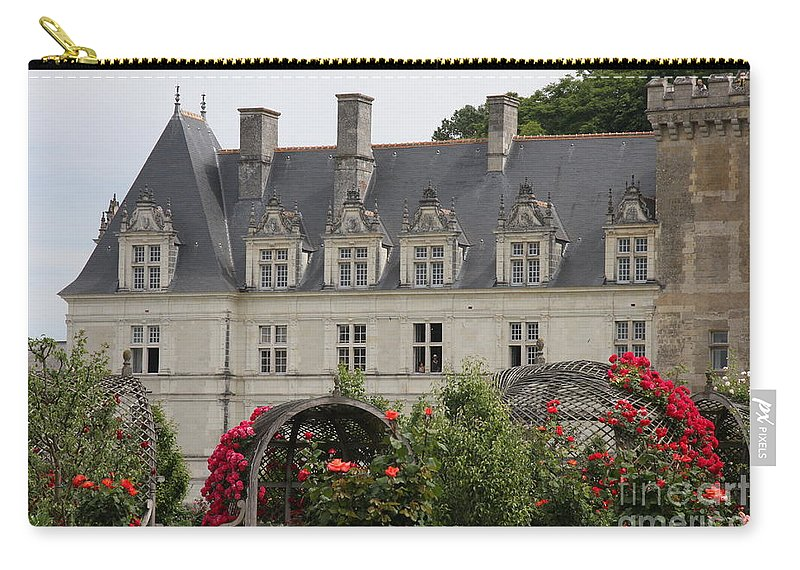 Roses Carry-all Pouch featuring the photograph Rose And Cabbage Garden Chateau Villandry by Christiane Schulze Art And Photography