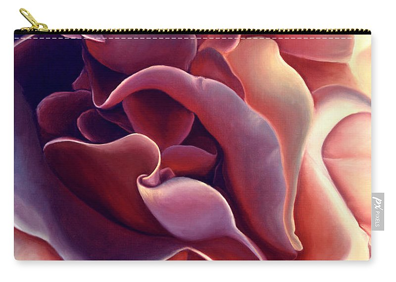 Rose Carry-all Pouch featuring the painting Rose by Anni Adkins