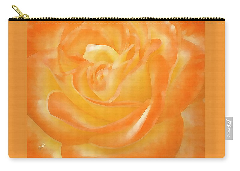 Orange Flower Carry-all Pouch featuring the photograph Rose by Ben and Raisa Gertsberg