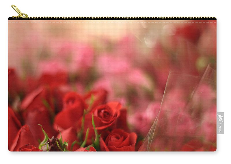 Flowers Carry-all Pouch featuring the photograph Rose Bouquet by Jessica Jenney