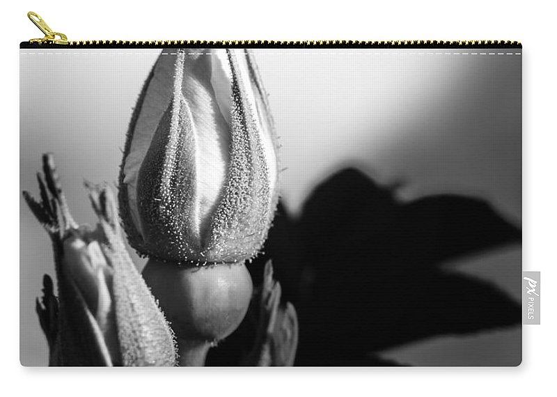 Flowers Carry-all Pouch featuring the photograph Rose Bud by Bob Orsillo