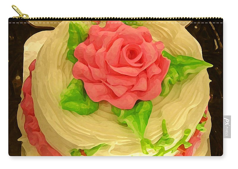 Food Carry-all Pouch featuring the painting Rose Cakes by Amy Vangsgard