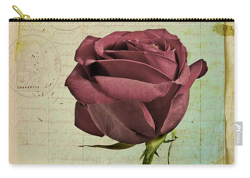 Rose Carry-all Pouch featuring the photograph Rose En Variation - S23ct06 by Variance Collections