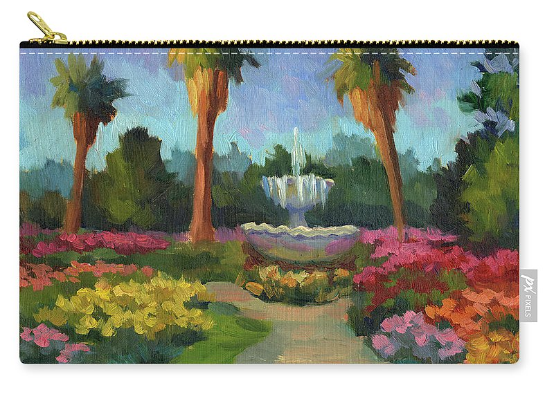 Rose Garden Carry-all Pouch featuring the painting Rose Garden by Diane McClary