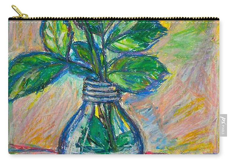 Still Life Carry-all Pouch featuring the painting Rose In A Bottle by Kendall Kessler
