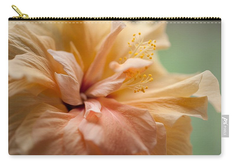 Hibiscus Carry-all Pouch featuring the photograph Rose Of Sharon. Hibiscus by Jenny Rainbow